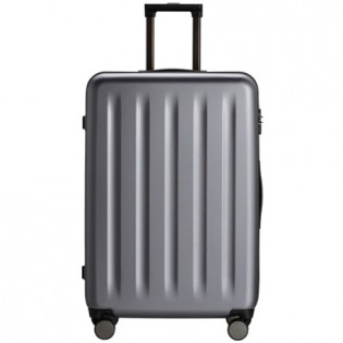 "RunMi 90 Points Trolley Suitcase 28"" Gray Stars"