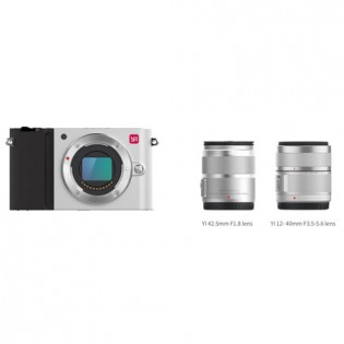 Yi M1 Mirrorless Digital Camera Dual Lens Chinese Version Silver