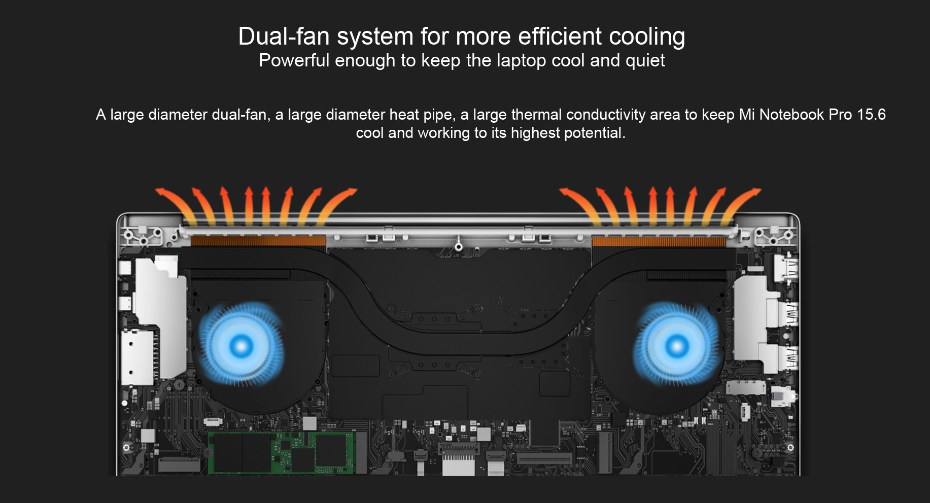 Xiaomi Mi Notebook Pro 15 Dual fan system